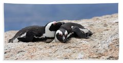 Close Bonds, African Penguin Beach Towel