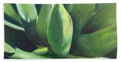 Close Cactus II - Agave Beach Towel