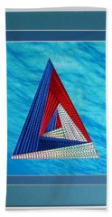 Beach Towel featuring the mixed media Close Encounter by Ron Davidson