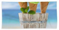 Close Up Ice Creams Beach Towel
