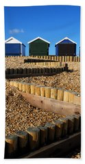 Closed For The Winter Beach Sheet by Wendy Wilton
