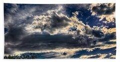 Beach Towel featuring the photograph Cloud Drama by Mark Myhaver