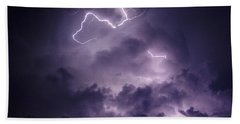 Beach Towel featuring the photograph Cloud Lightning by James Peterson