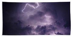 Cloud Lightning Beach Towel by James Peterson