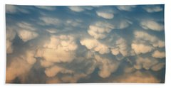 Cloud Texture Beach Towel