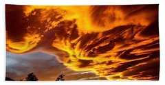 Beach Towel featuring the photograph Clouds 2 by Pamela Cooper