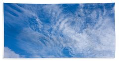 Clouds Beach Sheet by Liz  Alderdice