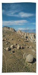 Clouds On Blue Sky Over Bishop Beach Towel