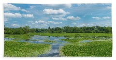 Clouds Over South Park Lake, South Beach Towel