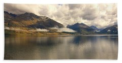 Beach Towel featuring the photograph Clouds Over Wakatipu #1 by Stuart Litoff