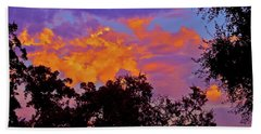 Beach Towel featuring the photograph Clouds by Pamela Cooper