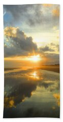 Clouds Reflection By Jan Marvin Beach Sheet