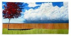 Cloudy Day Beach Towel