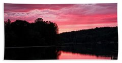 Cloudy Sunset Beach Towel