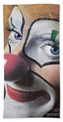 Clown Mural Beach Towel by Bob Christopher