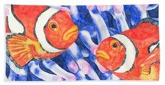 Clownfish Couple Beach Sheet