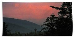 Clucks West Ossipee Mountain Sundown Beach Towel