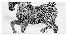 Clydesdale Foal - Zentangle Beach Towel