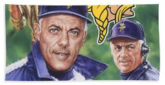 Coach Bud Grant Beach Towel