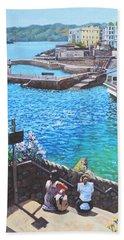 Coast Of Plymouth City Uk Beach Towel