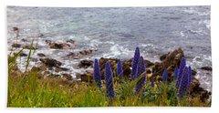 Coastal Cliff Flowers Beach Sheet
