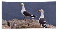 Coastal Seagulls Beach Sheet by Melinda Ledsome
