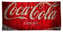 Coca Cola Barn Beach Towel