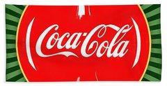 Coca Cola Pop Art  Beach Towel