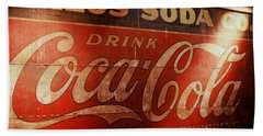 Beach Sheet featuring the photograph Coca Cola Sign by Rodney Lee Williams