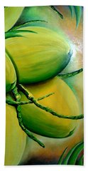 Coconut In Bloom Beach Towel