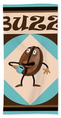 Coffee Buzz Beach Towel
