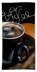 Coffee Break Beach Sheet by Dani Abbott