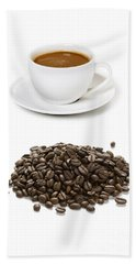 Beach Sheet featuring the photograph Coffee Cups And Coffee Beans by Lee Avison