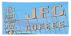 Coffee Sign Beach Towel
