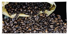 Coffee Unmilled  Beach Towel