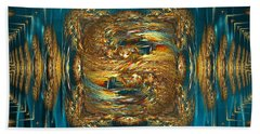 Beach Towel featuring the digital art Coherence - Abstract Art By Giada Rossi by Giada Rossi