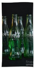 Coke Bottles From The 1950s Beach Towel by Paul Ward