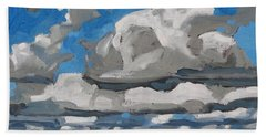 Cold Air Mass Cumulus Beach Towel by Phil Chadwick