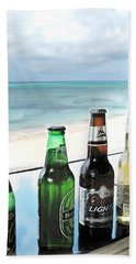 Cold Beers In Paradise Beach Sheet by Joan  Minchak