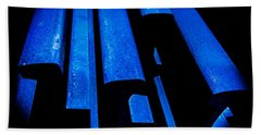 Cold Blue Steel Beach Towel by Steven Milner