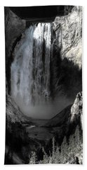 Beach Towel featuring the photograph Cold Cascade  by David Andersen