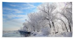 Cold Frosty Morning Beach Towel