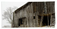 Beach Towel featuring the photograph Cold Winter At The Barn  by Wilma  Birdwell