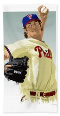 Cole Hamels Beach Towel by Scott Weigner