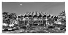 Coliseum B W With Moon Beach Sheet by Dan Friend