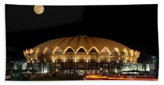 Coliseum Night With Full Moon Beach Sheet