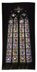 Cologne Cathedral Stained Glass Life Of Christ Beach Towel