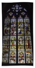 Cologne Cathedral Stained Glass Window Of The Nativity Beach Sheet