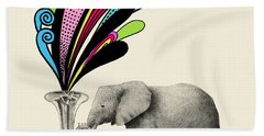 Color Burst Beach Towel by Eric Fan