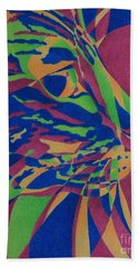 Beach Towel featuring the painting Color Cat I by Pamela Clements